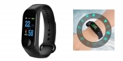 Bracciale sport fitness contapassi braccialetto intelligente bluetooth smart m3