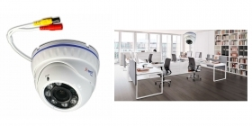 Telecamera dome AHD full hd 3 mpx 2.8 16mm 6 led camera sorveglianza esterno