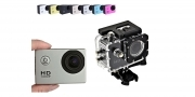 Fotocamera impermeabile sport videocamera hd 1080p kit accessori action camera