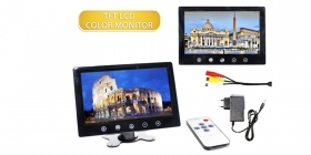 "Monitor telecamera tv 9"" TFT/LCD HD 2 ingressi video display videosorveglianza"