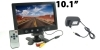 "Monitor telecamera tv 2 ingressi video 10.1""TFT/LED con staffa supporto D00146"