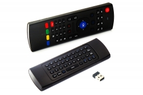 Telecomando con tastiera wireless 2.4G per TV box Smart TV Air mouse