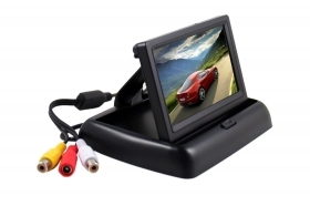 "Monitor per retromarcia auto TFT LCD da 4.3"" a scomparsa display ripiegabile 046"