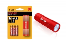 Kodak Torcia 9 LED 46 lumen flashlight rossa 30412460