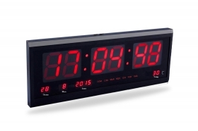 Orologio digitale da parete con datario temperatura display led ufficio JH4600