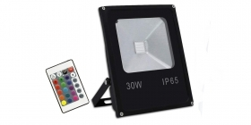 Faro led 30w rgb da esterno multicolor proiettore slim ip65