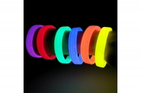 Bracciale fluorescente banda luminosa polsino rigido colore fluo tiplo led
