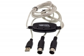 Cavo da usb a interfeccia midi adattatore bidirezionale in out pc audio tastiera