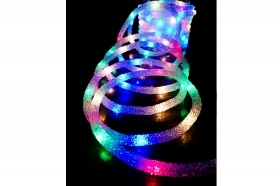 Tubo luminoso led effetto ghiaccio ice multicolor 4.8m luci di natale addobbi