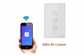 Sonoff T2US3C interruttore smart touch 3 canali wifi wireless smartphone RoHS
