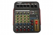 Consolle mixer audio professionale 6 canali usb karaoke mic/line mp3 F6-BT