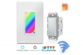 Interruttore intelligente luce notturna wifi dimmer rgb light 10A SSMS118-01
