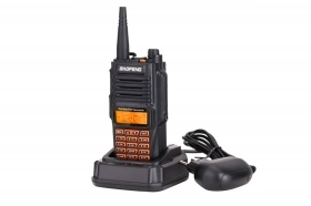 Walkie talkie ricetrasmittente Bf-9R 1pz portatile dual band 128 canali