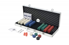 Set poker 500 fiches chips 2 mazzi carte gettone deal kit texas holdem valigetta