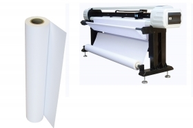 Rotolo carta plotter 42cmx50mt