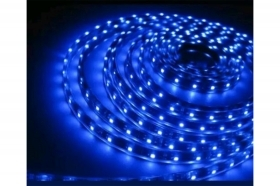 Striscia strip led blu 5m fles