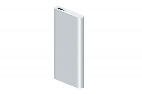 Caricatore portatile power bank slim USB batteria 6000mAh led silver ld-8210