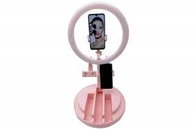 Anello luminoso led lampada make up 19cm selfie ring luce dimmerabile BK-01