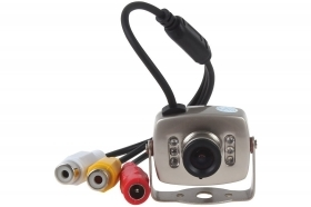 Mini telecamera colori microfono 6 LED infrarossi audio video microfono 208C