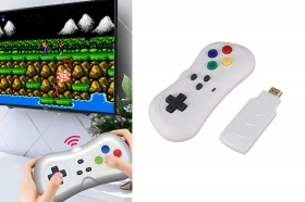Mini tv game dongle wireless 2.4g joystick 200 giochi in 1 console retrogame