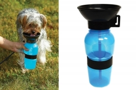 Borraccia cane gatto 500ml animali viaggio portatile ciotola beverino dispenser