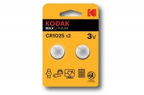 Kodak batteria CR1025 3V max lithium 2pz litio bottone DL1025
