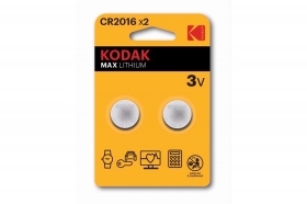 Kodak batteria CR2016 3V max lithium 2pz bottone litio DL2016