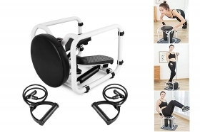 Mini stepper multifunzione ellittica con bande elastiche display seduta fitness