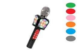 Microfono led wireless karaoke