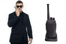 Walkie talkie ricetrasmittente 16 canali led allarme timer 400-470MHz E-S7