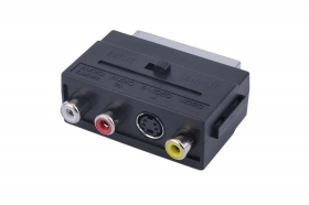 Adattatore scart in/out 3 rca convertitore adattatore audio video