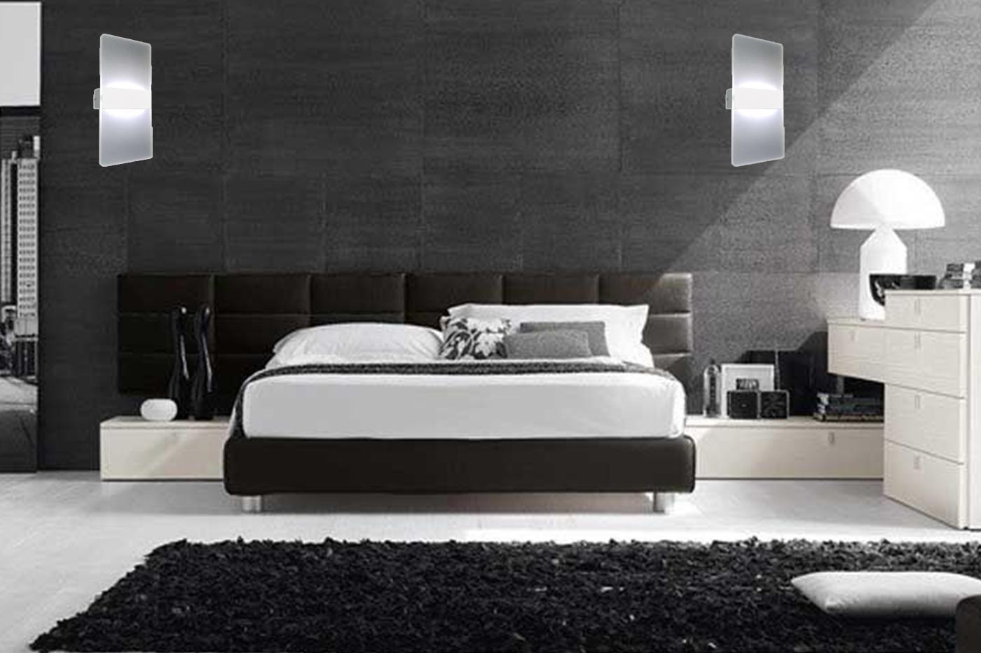 Camera Da Letto Fredda lampada da parete applique led moderno acrilico alluminio luce fredda 16w  9011