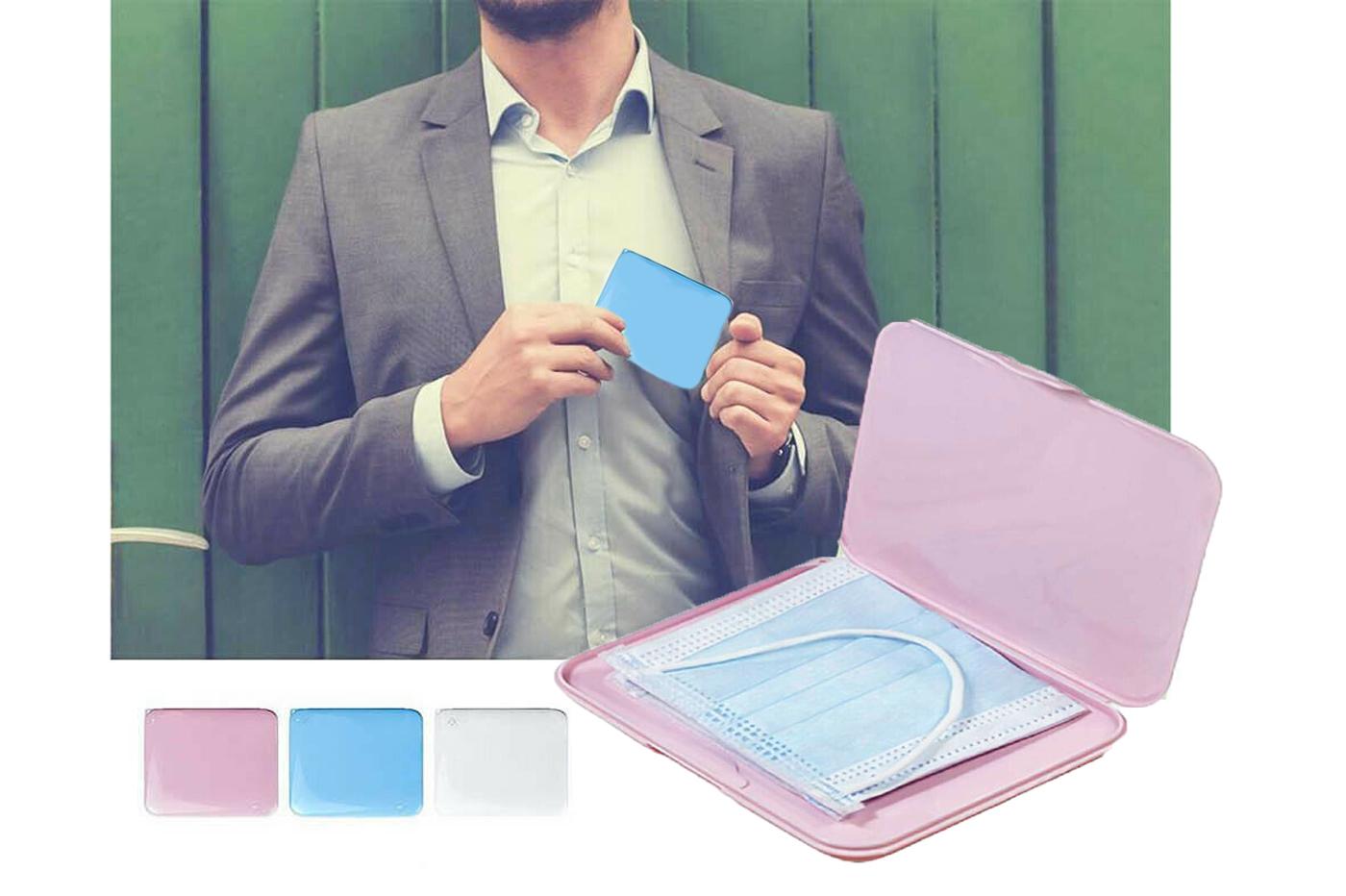 Beuya portable custodia per mascherine scatola di immagazzinaggio per maschera usa e getta portatile scatole per maschere