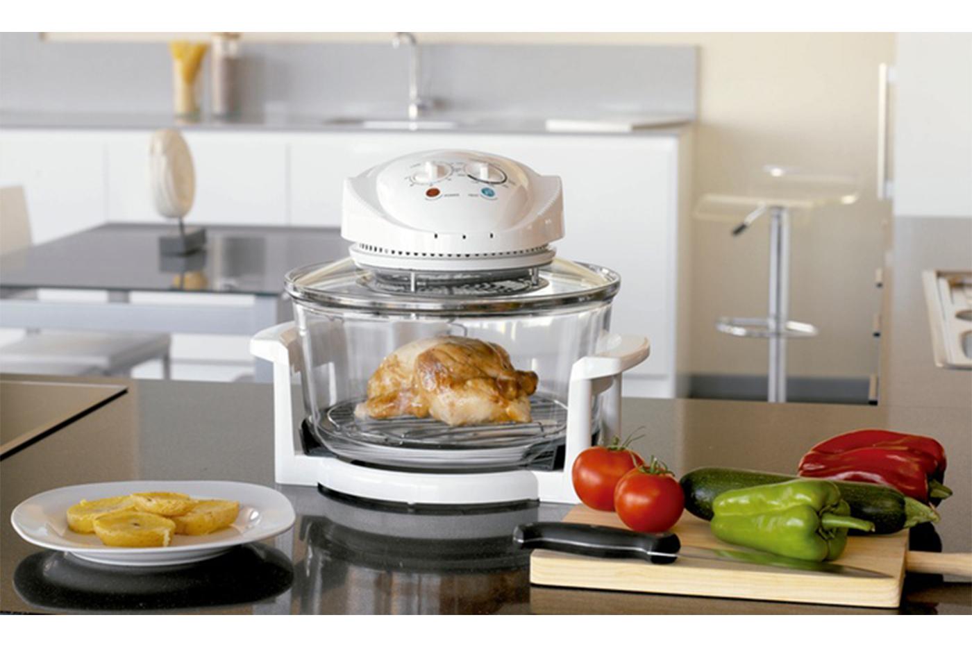 Forno fornetto alogeno 12L 1400W multifunzione robot cucina cottura H0-200