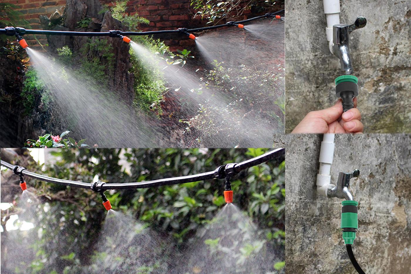 Irrigazione A Goccia Kit Micro Vasi Tubo Innaffiamento Per Terrazzo Giardino 10m