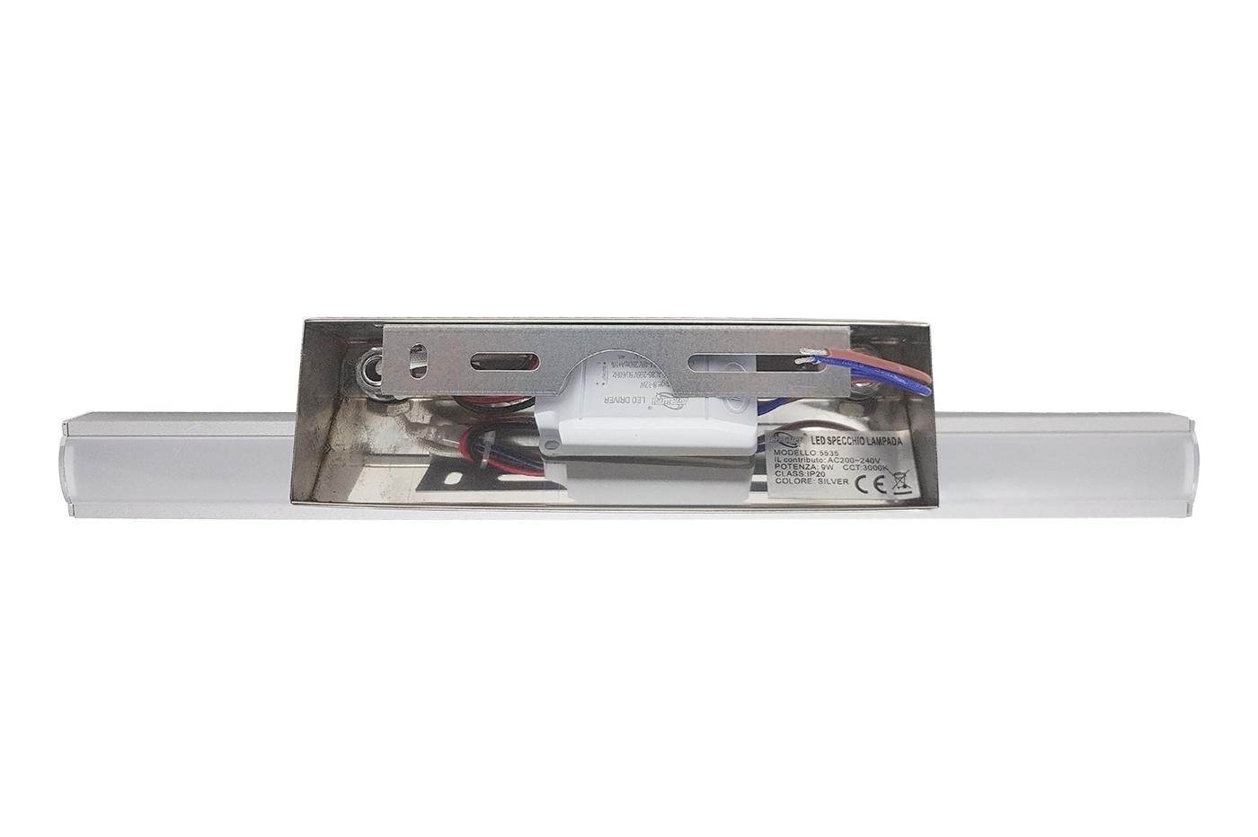 Bes 23691 applique beselettronica lampada applique specchio
