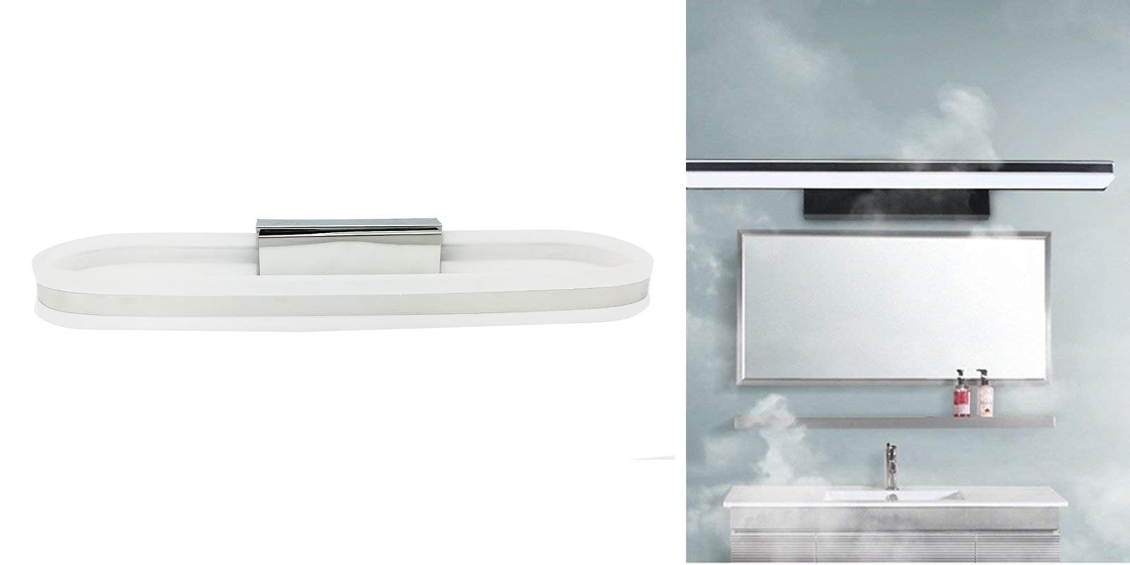 Applique Specchio Bagno Moderno dettagli su applique led lampada specchio moderno casa 10w luce calda  naturale fredda dr