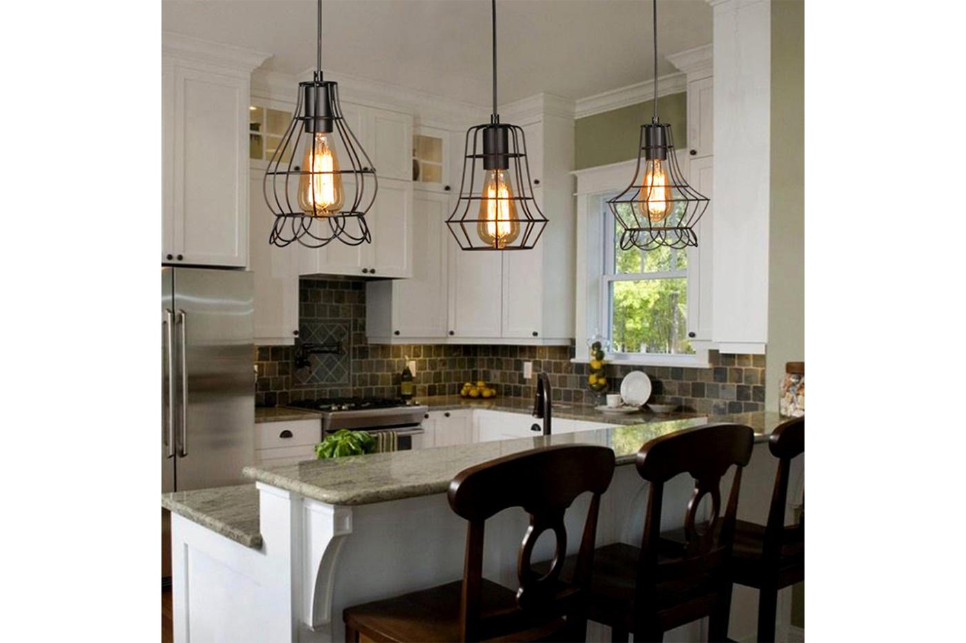 Lampadari Per Casa Al Mare lampadario gabbia in metallo industriale retro e27 pendente vintage ty003
