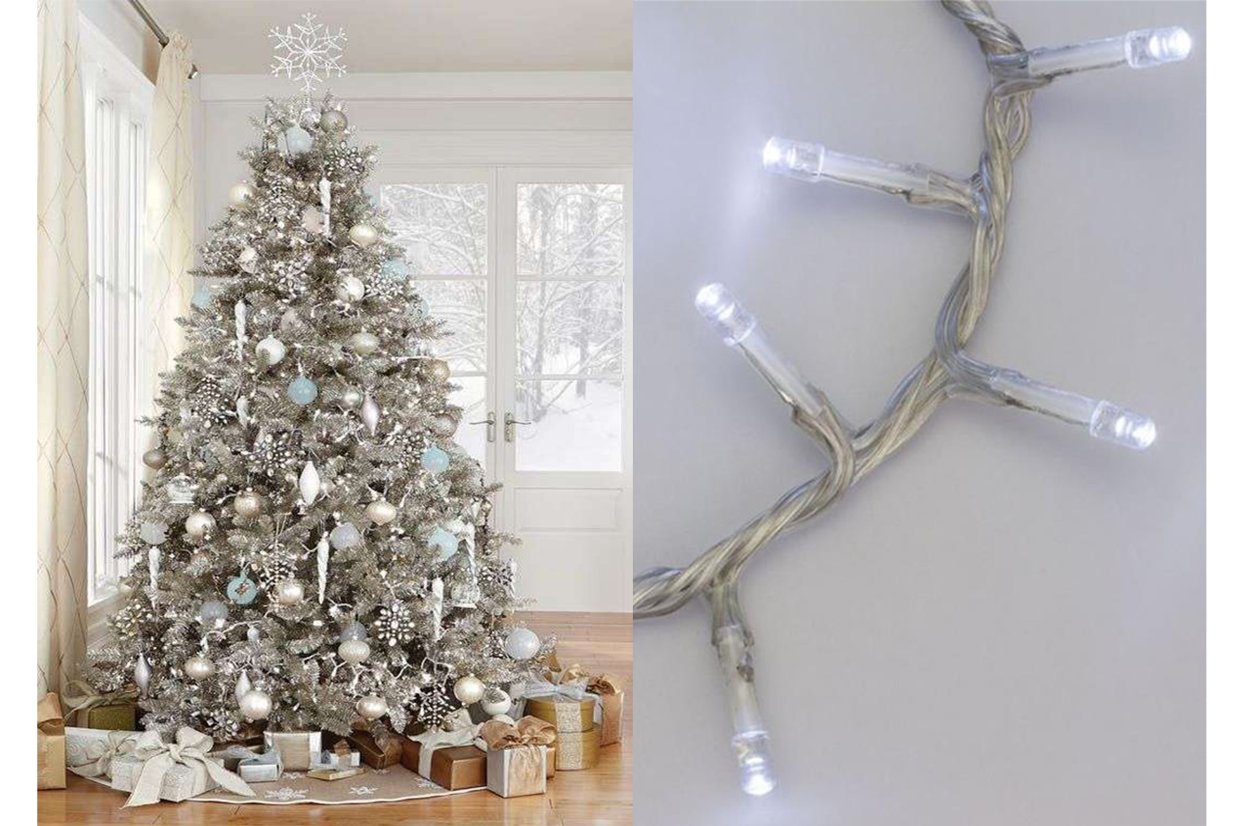 Minilucciole A Led Catena Luminosa Natale A Batteria Luce Fredda 10