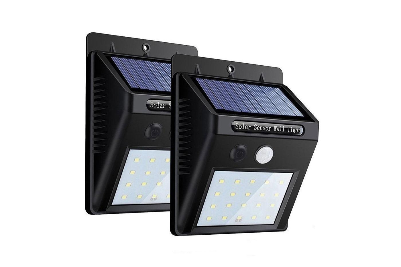 Plafoniera Esterno Sensore Movimento : Bes 24286 illuminazione ad energia solare beselettronica 2 pz