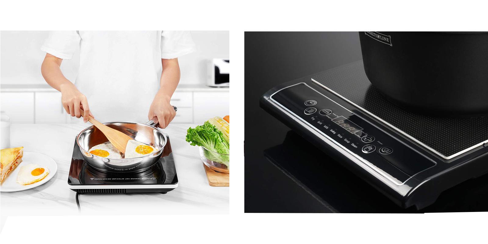 Piano Cottura Induzione O Gas piastra induzione fornello portatile elettrico piano cottura cucina 2000w rl