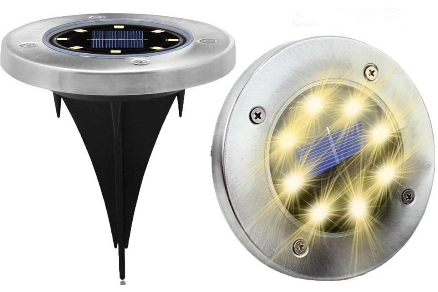 Bes 24181 segnapassi beselettronica faretto 8 led energia