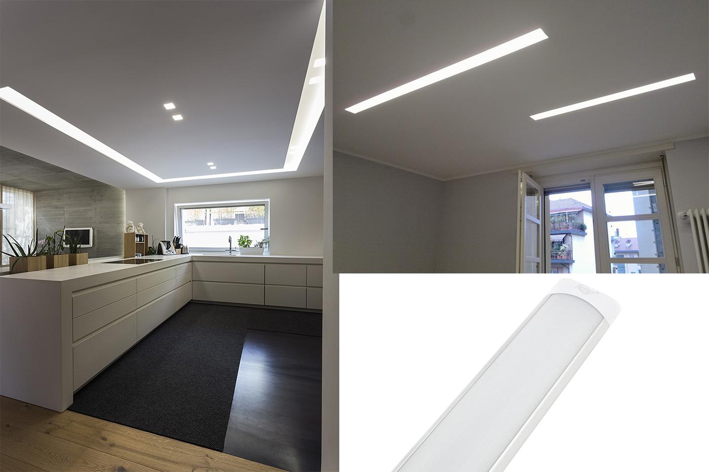 Plafoniere Slim Led Calda : Plafoniera led w watt luce calda cm slim smd soffitto v