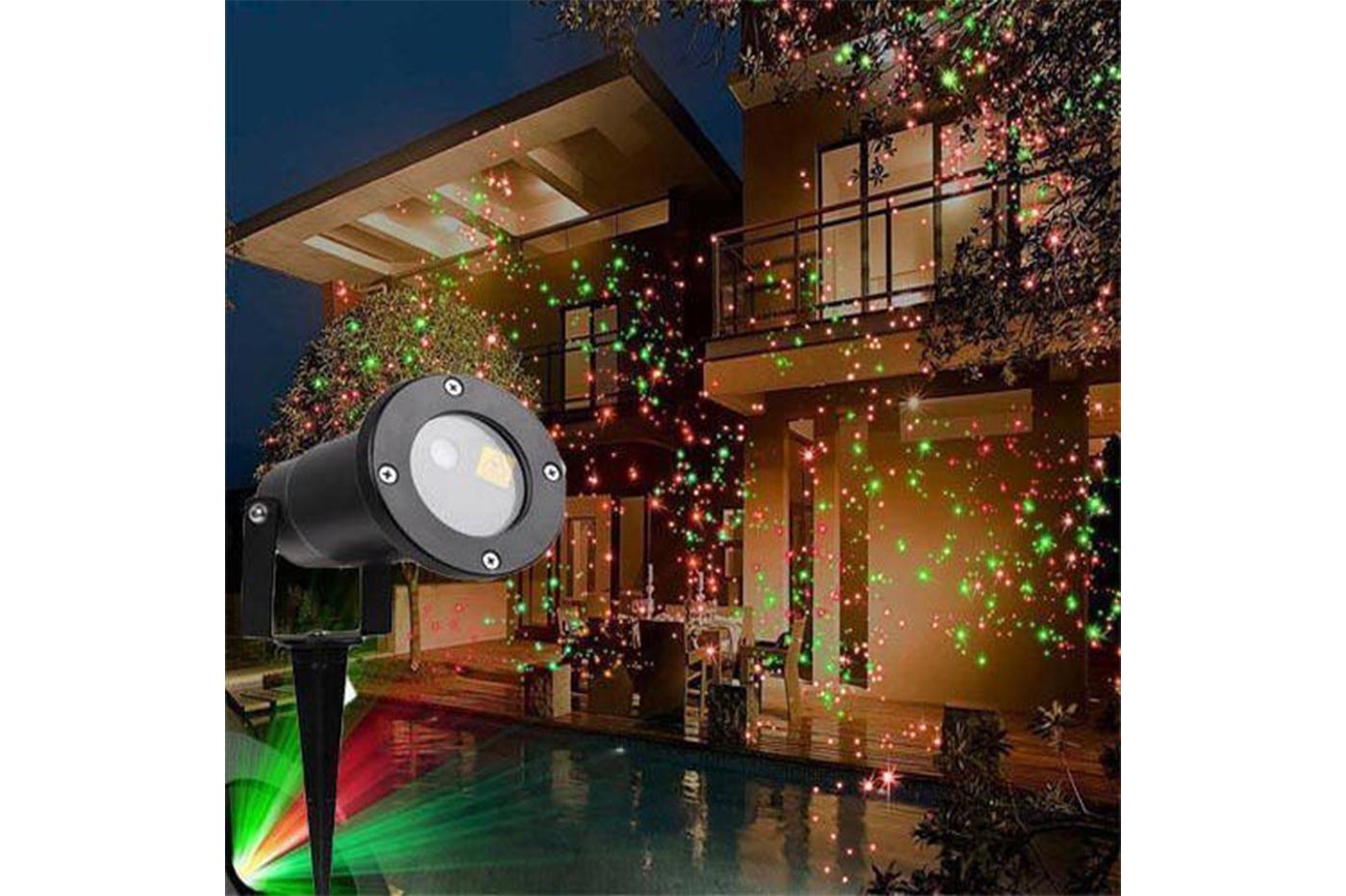 Proiettore Luci Natale Giardino.Proiettore Faro Led Picchetto Puntini Rosso Verde Luci Natale Giardino Ip44