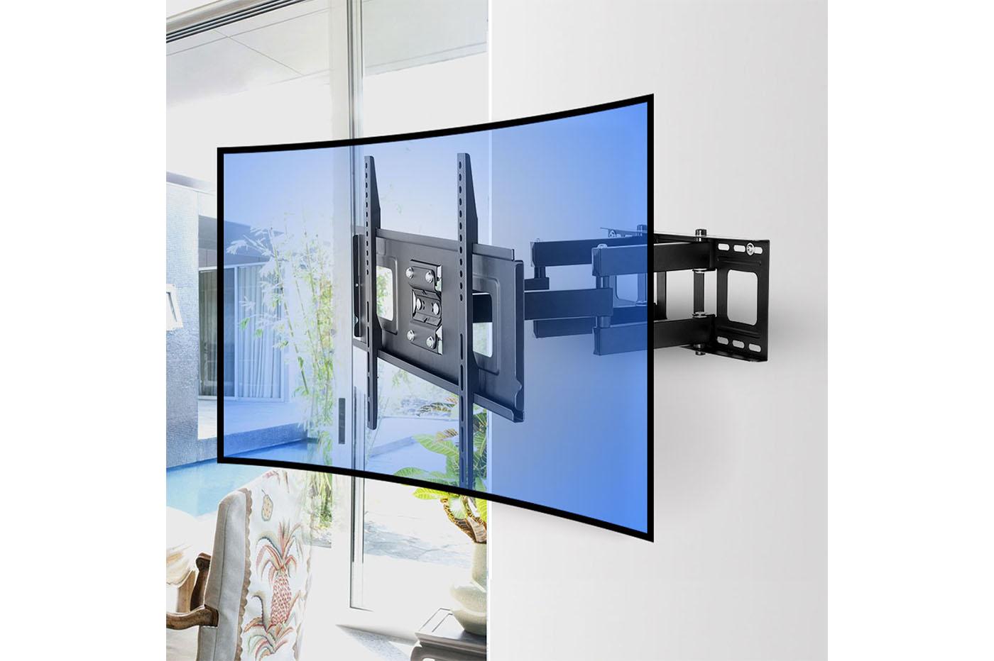 Staffa Porta Tv Girevole.Supporto Tv Staffa Da 32 A 65 Girevole Con Braccio Inclinabile Tv Monitor S002