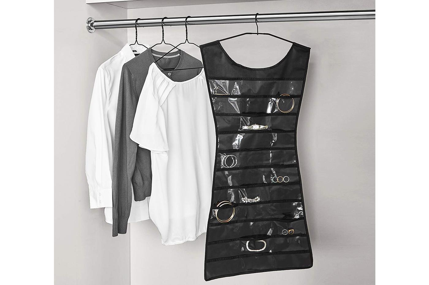 Ganci Per Appendere Collane vestito portagioielli multitasche gancio organizer portagioie abito  espositore